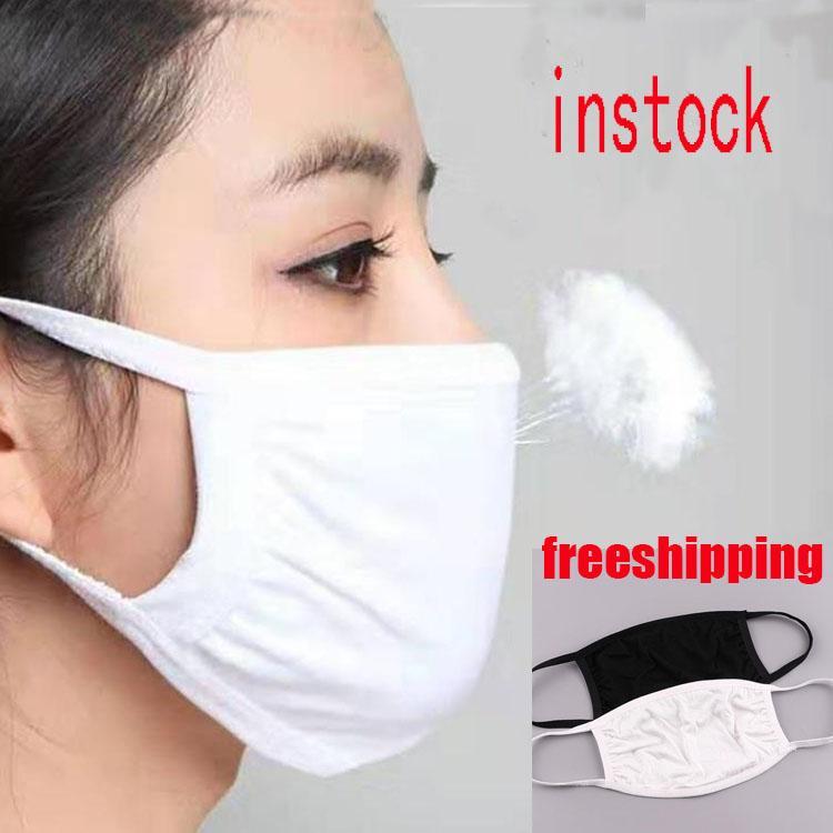 high quality Cycling Wearing Anti-Dust Cotton Mouth Face Mask PM 2.5 Mask Unisex Man Woman Black White Fashion free shipping FWE2276