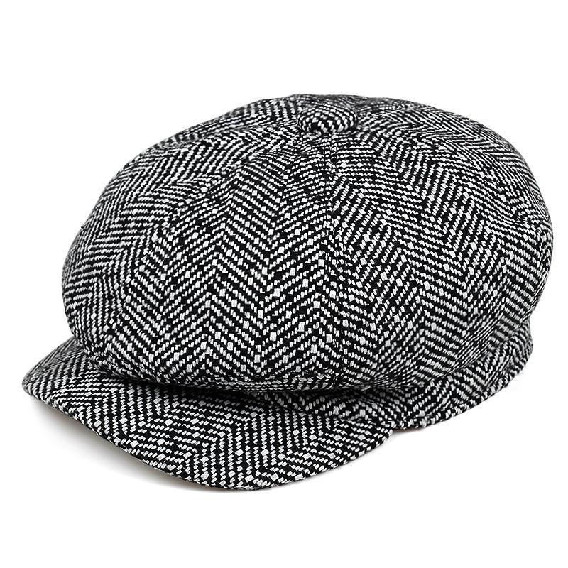 2020 nueva moda octagonal del casquillo del vendedor de periódicos de la boina otoño invierno Caps Modelos Hombres International Superstar masculinos al aire libre Mantener sombreros calientes