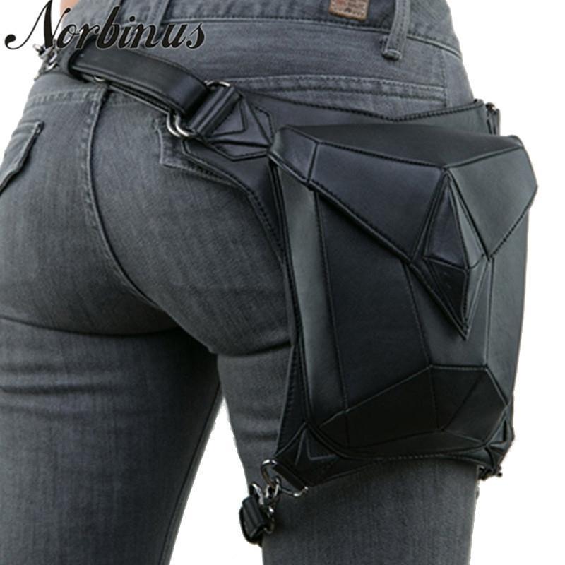 Norbinus mulheres steampunk cintura perna sacos homens vitoriano estilo saco de coldre motocicleta coxa quadril packs messenger ombro sacos t200113