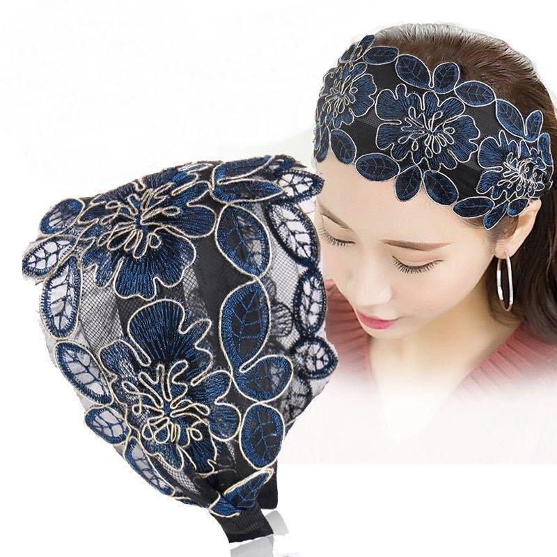 وصول جديدة جميلة الرباط ورقة لوتس تصميم العصابة الصين أوبرا نمط نسيج الشعر النسائية هوب بالجملة