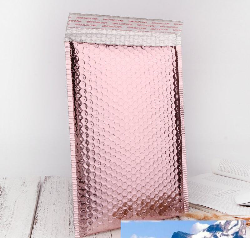Rose Gold Bubble Envelope Package Bag Rose Gold Foil Shockproof Bubble Mailer Gift Packaging Wedding Favor Bag Multisize jllEjHZ mx_home
