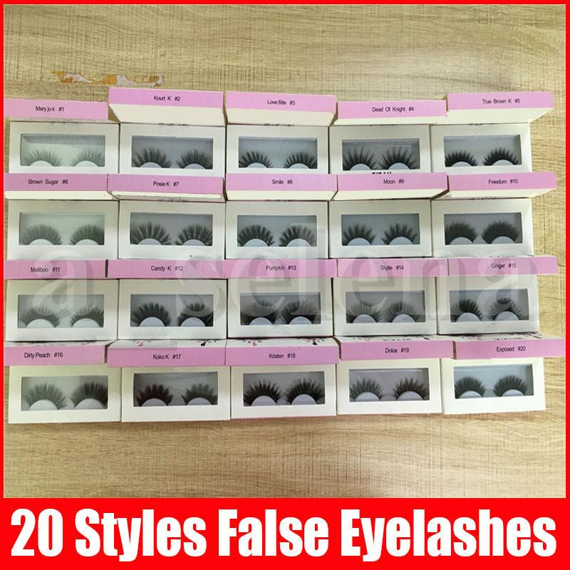 20 styles outil de maquillage œil faux cils extensions de cils de cils fausses fausses cils volumineux faux cils pour les cils oculaires
