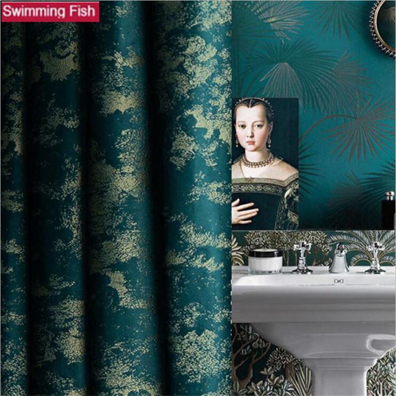 New retro American Blackout Drape Panel Tickened velvet Soundproof Curtain living room Bedroom LJ201224