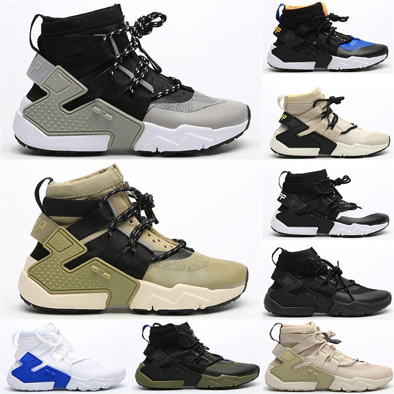 2021 notícias huarache e.d.g.e txt qs executando sapatos mulheres borda como triplo preto branco esportes sneakers huarache gripp sigla alta sapatos