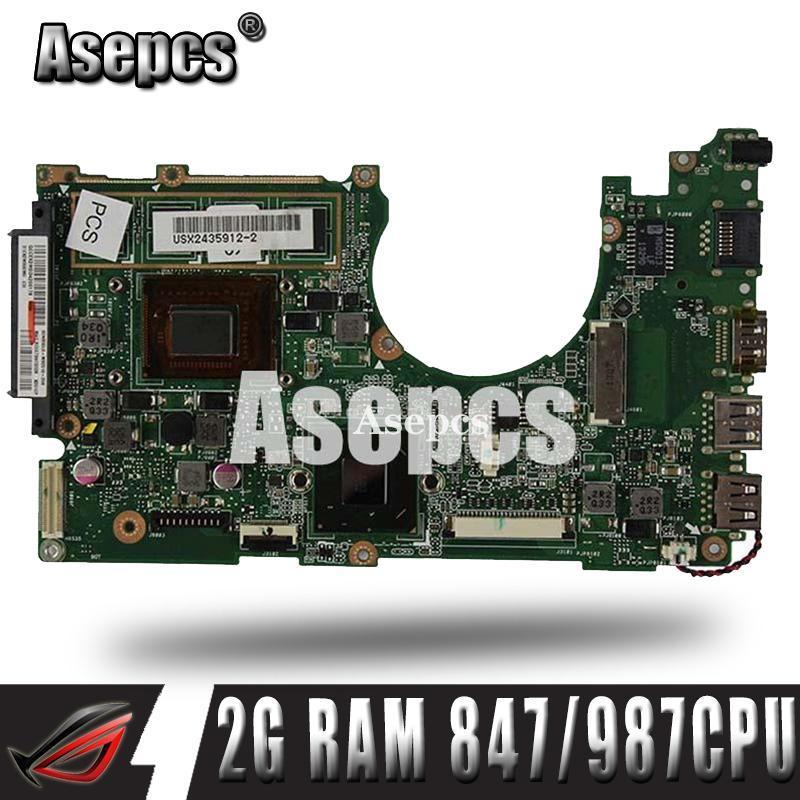 Asepcs X202E Laptop motherboard For Asus X202E X201E S200E X201EP Test original mainboard 2G RAM 847 /987 CPU