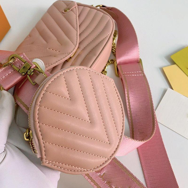 Berühmter Name Handtasche 4 Taschen Brief Taschen Kette Weiche Vielseitige Farben Frauen Designer Designer Handtasche Luxurys Frauen 2020 Crossbody Lea JFWG