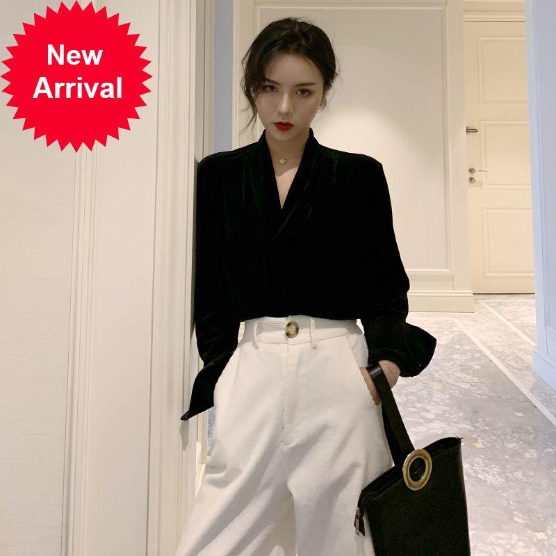 Retro stile coreano in stile coreano pantaloni da due pezzi femminili autunno inverno set da donna abiti eleganti ropa de mujer abbigliamento donna eb50tz