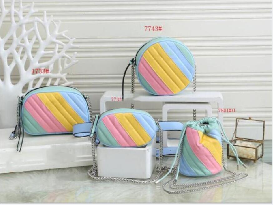 Mais cores de alta qualidade New Style Marmont Mulheres Bolsas prata cadeia de Bolsas de Ombro Crossbody Soho Bag Disco Messenger Bag Purse