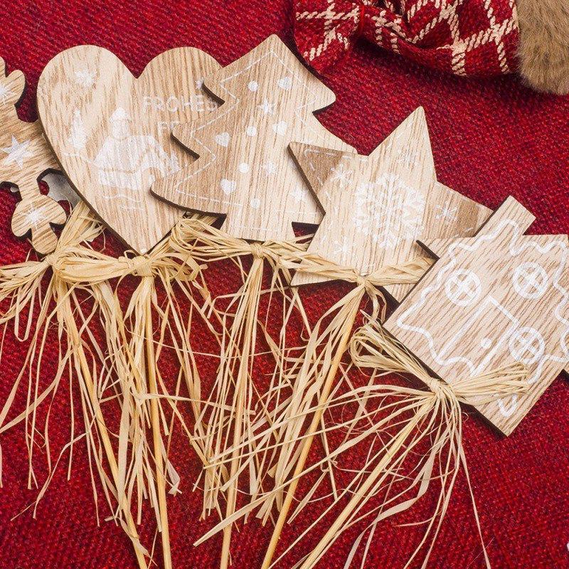 2020 ornamento de año nuevo de madera natural de Navidad pendientes colgantes de madera regalos Multi-Decoración en forma de Navidad