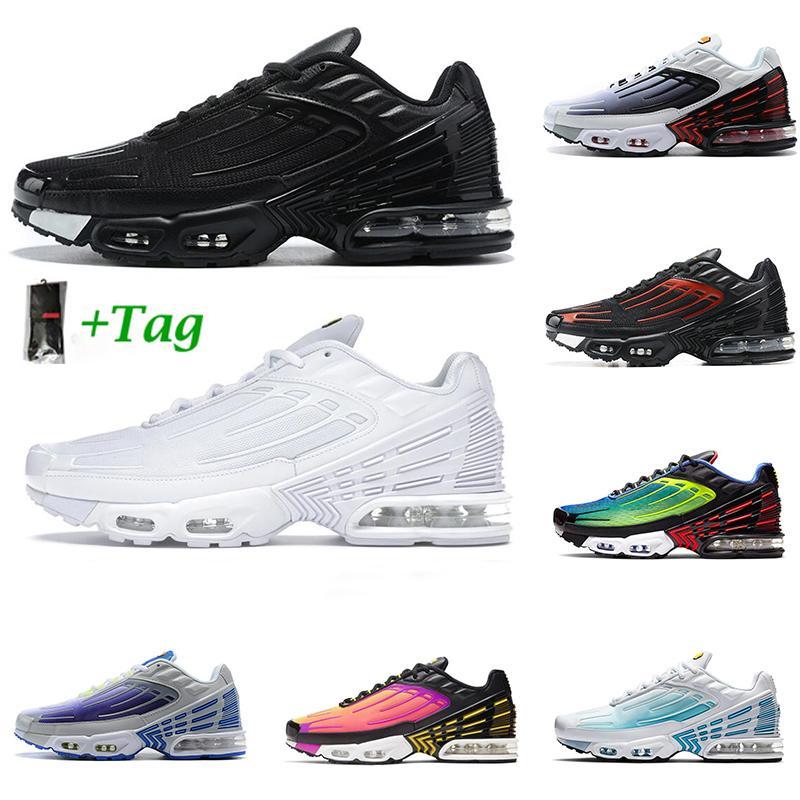 tn pas 3 cher en plus soi hommes chaussures de course Triple noir Tension Violet Hyper Bleu Vert Jaune brillant perçant hommes formateur chaussures de sport de coureur