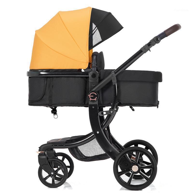 Nouveau poussette de luxe Baby 3 en 1, poussette de luxe de luxe de luxe portable, poussette Prame de voyage Yeuneux, bébé ajustable Bassinet1