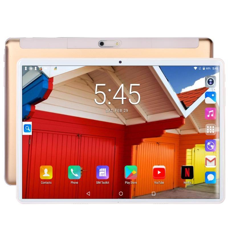 BDF 10-Zoll-Android 7.0 Quad-Kern 1 GB 32 GB 1280 * 800 2.5D IPS-Bildschirm-Tablet Wifi-SIM-Karte Mobiltelefon Phablet