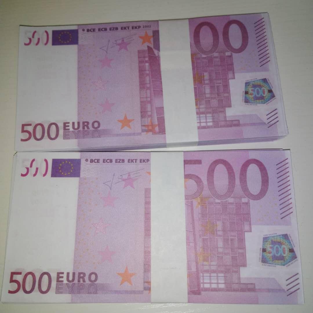 Requisiten Neu Pfund Banknote Euro 500 Billet Gefälschte TVAQs DOLLAR PAPER PROPT Spielzeug LE500-11 Geschenk Kinderticket Faux Magic Vlupa