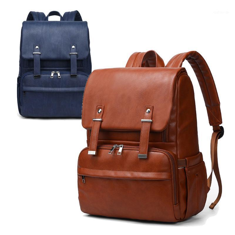 Pelle Unisex Bag Quality PU Fashion Pad + Passeggino Backpack Baby + Cambiare nuovi cinghie per pannolini1 fthdo