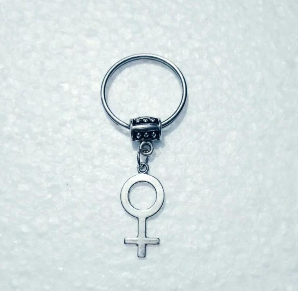 NEW HOT Fashion jewelry WOMEN symbol/Female standard Keychain - charm pendant key chain ring DIY Fit Keychain - 219