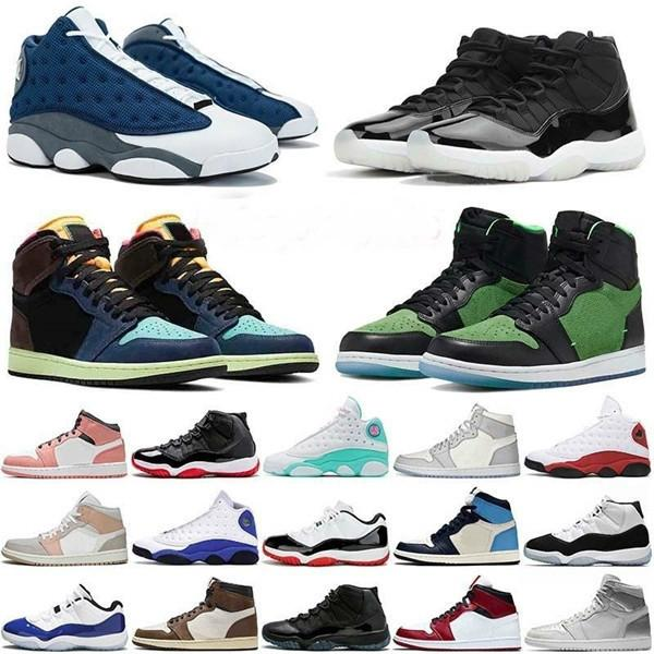 Top 13s JUMPMAN Top Quality Mens Basketball Shoes 25th Anniversary 11s High OG Bio Hack Chicago MID Aurora Green Women Outdoor Trainers
