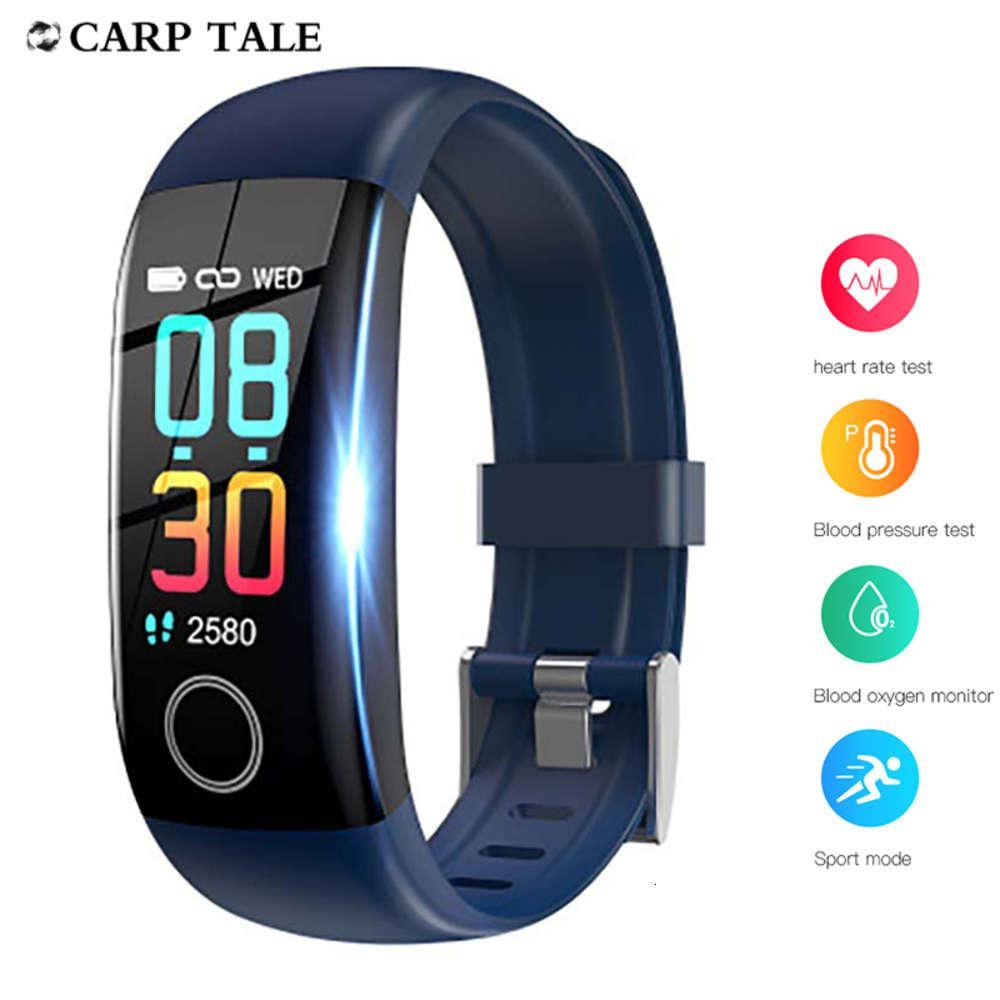 2020 Sportfrauen IP67 Wasserdichte Temperaturüberwachung Armband Männer Smart Watch