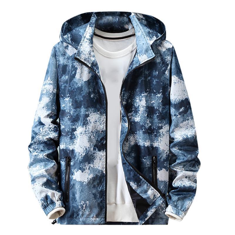 الخريف معطف الرجال جاكيتات الملابس الكلاسيكية متعدد الألوان المرقعة مقنعين سترة واقية سترة الرجال الخريف حجم كبير M-4XL الشارع الشهير