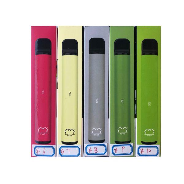 Puff Bar Plus Plus 800 + слоеный одноразовый слойки плюс картридж 550 мАч аккумулятор 3.2ML предварительно заполненные подружки Vape Pods стиль E сигареты портативный испаритель