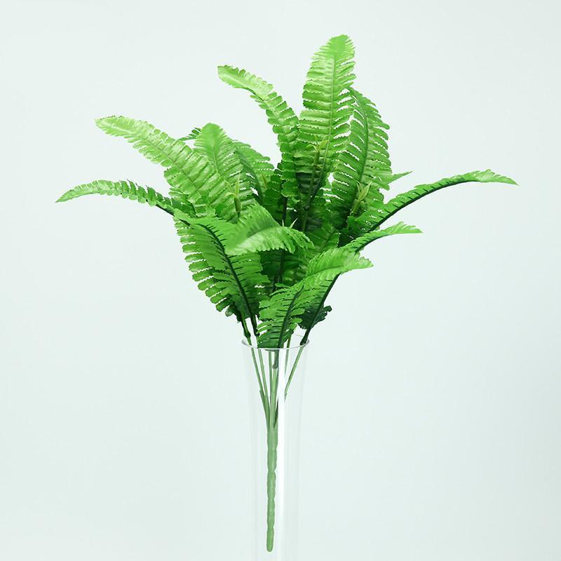Neue 1 stück Blumen Grün Künstliche Pflanze Persisches Gras Kunststoff Blätter Gras Künstlich im Topf Home Decoration Gefälschter Kranz