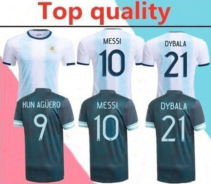 NCAA Nouveau Jersey Argentine Maradona 20 21 Argentine Copa America Messi Mens Soccer Jerseys Aguero Dybala ICARDI Chemise de football 2020 2021