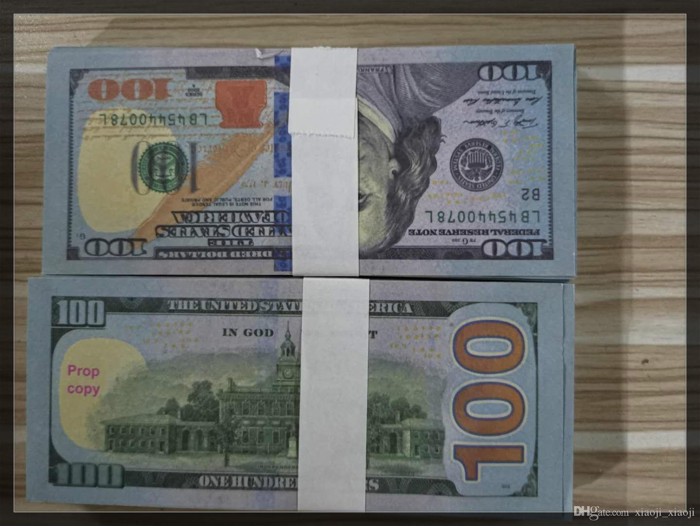2020 Hot Banknote Education 100 Dollar Learning Money Props Billet 07 Fake New Juguetes Vende 5 Dollar Bar Movie Money TMIOG