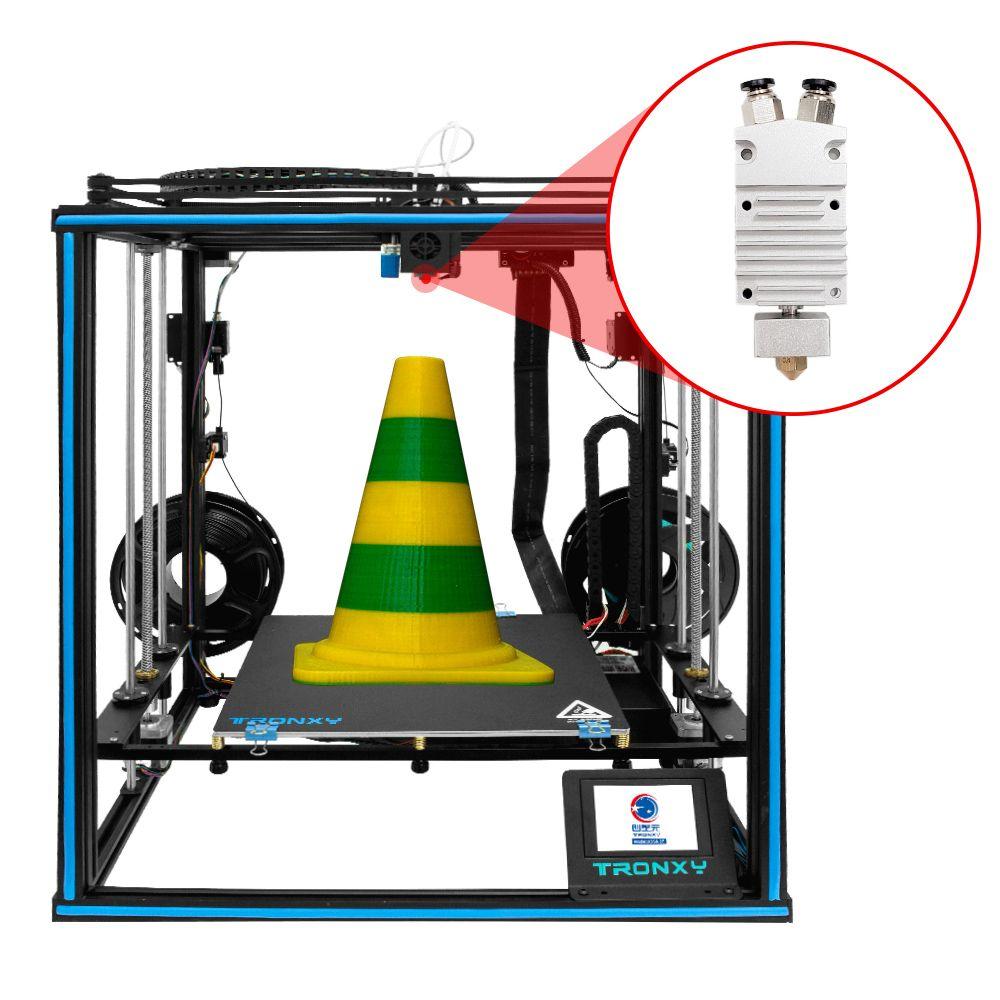 X5SA-2E 3D طابعة 2 في 1 من 330 * 330 * 400MM Tronxy المزدوج الطارد لونين رئيس DIY KitsPrinting impresora 3D دراكر