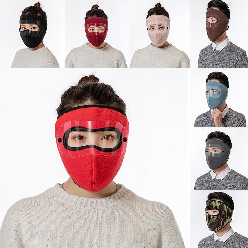Inverno máscara de esqui homens mulheres proteger protetor de rosto protetor protetor protetor de ouvido de ciclismo bicicleta motocicleta quente à prova de vento headwear máscara 50 pcs db185