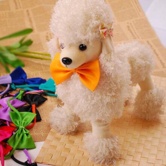 Regolabile Dog Bow Tie poliestere farfalla collana del collare del cucciolo Pure Color Pet Archi della miscela di colore Yw104