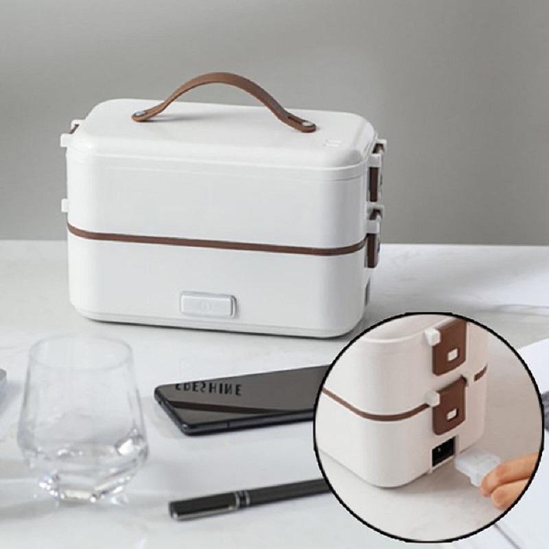 Preservação de calor multifuncional e fresca manutenção de microondas Forno elétrico lancheira de almoço plug-in cooking lancheira elétrica