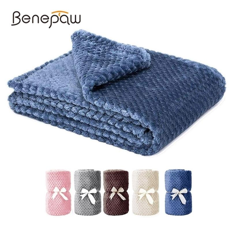 Benepaw All-season Fluffy Dog Blanket Comfortable Puppy Throw Pet Blanket For Small Medium Large Dogs Cats Mat Machine Washable LJ201201