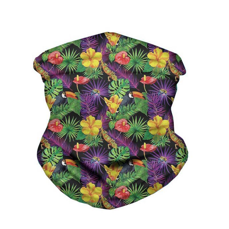 Schals, wo ertArt sommer hawailan blume design frauen lila schals lässig comfort bandnas neckgaiter headwear mulit-use salk