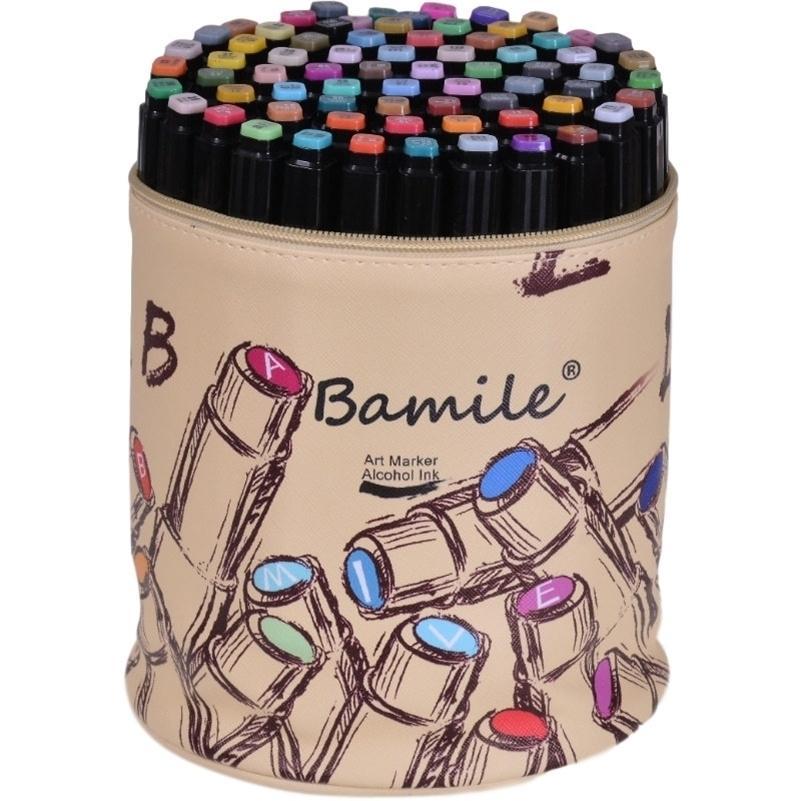 Bamile 30/40/80/80 Marcadores de cor mangá desenho marcadores caneta álcool baseado esboço feltry-ponta oleosa gêmea pincel caneta arte suprimentos 20118