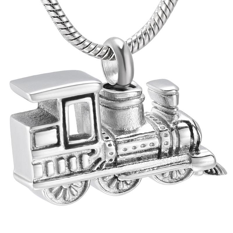 LKJ10001 الجدد الذين وصلوا قطار صغير لالرماد الإنسان حامل التذكار جرة قلادة الفولاذ المقاوم للصدأ مجوهرات الحرق الرجال النساء