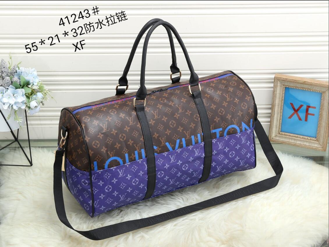 2021 new men duffle bag women travel bags hand luggage travel bag men pu leather handbags large cross body bag totes 55cm XF41243