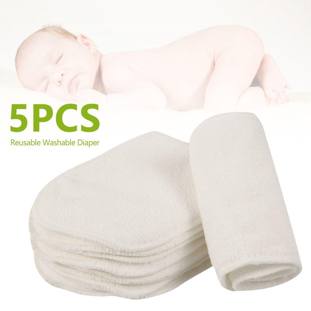 5 PCS Reusable baby Diapers Cloth Diaper Inserts 1 piece 3 Layer Insert 100% Cotton Washable babies care Eco-friendly diaper C0117 C0119