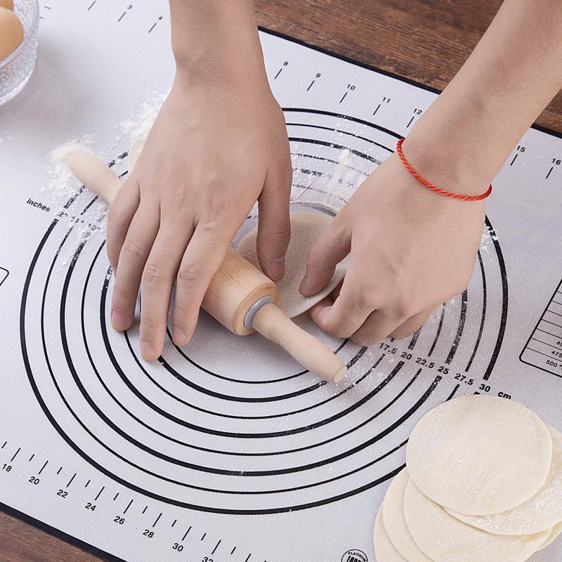 Knete Teig Matte Silikon Backmatte Pizza Teighersteller Gebäck Küche Kochen Gadgets Backformen Knete Pad Zubehör