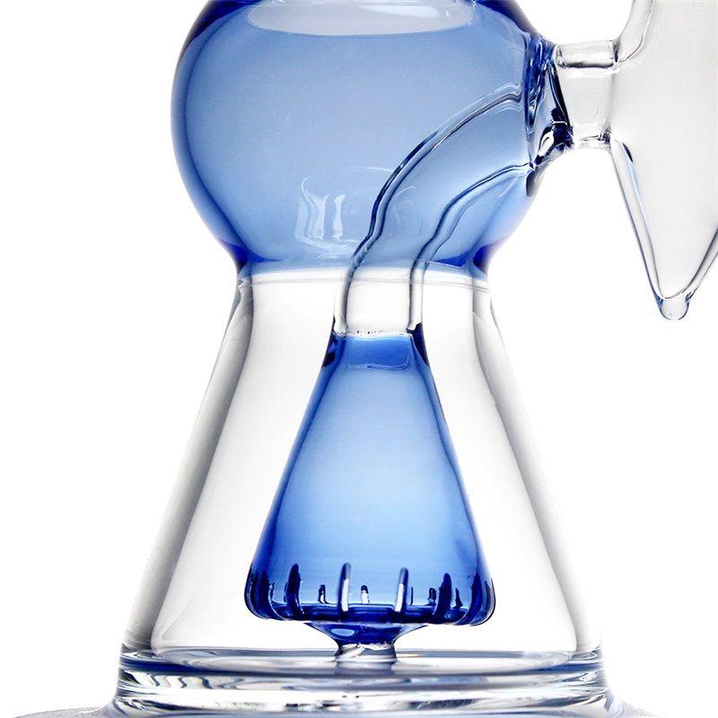 Usine de vente directe de l'artisanat en verre, femme tuyau d'eau bleu 14.5mm avec logo imprimé, bas prix, de haute qualité, la livraison gratuite