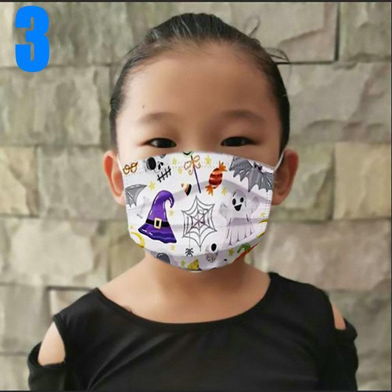 Halloween Cara Designer Kid Adult Mask 3 MA Moda Dibujos Animados Navidad Niño Dispuesto Layer Layer Muchachas PROTECTORAS MÁSCHAS UXVAO