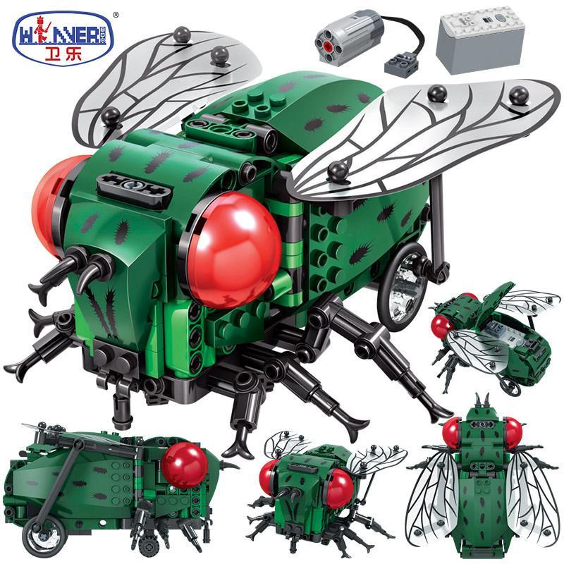 Erbo Создатель Сымитированных насекомых DIY Electric City Building Blocks Technic MOC Модель кирпичики наборы Игрушка для подарков Детских 1008