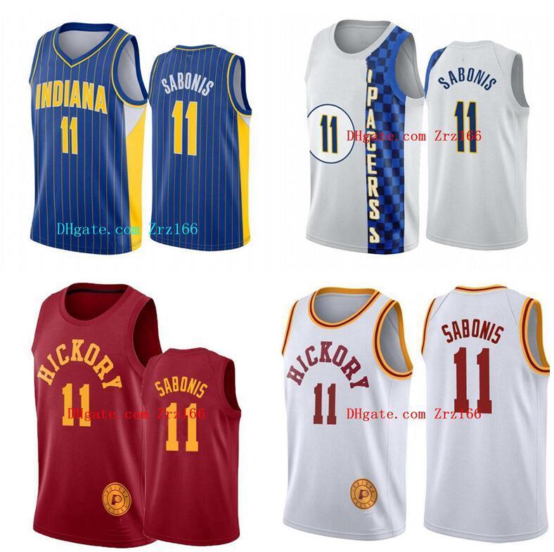 Hommes Basketball IndianaPacteur11 domantasSABONIS 2020-21 Jersey City Sans Jersey et Short