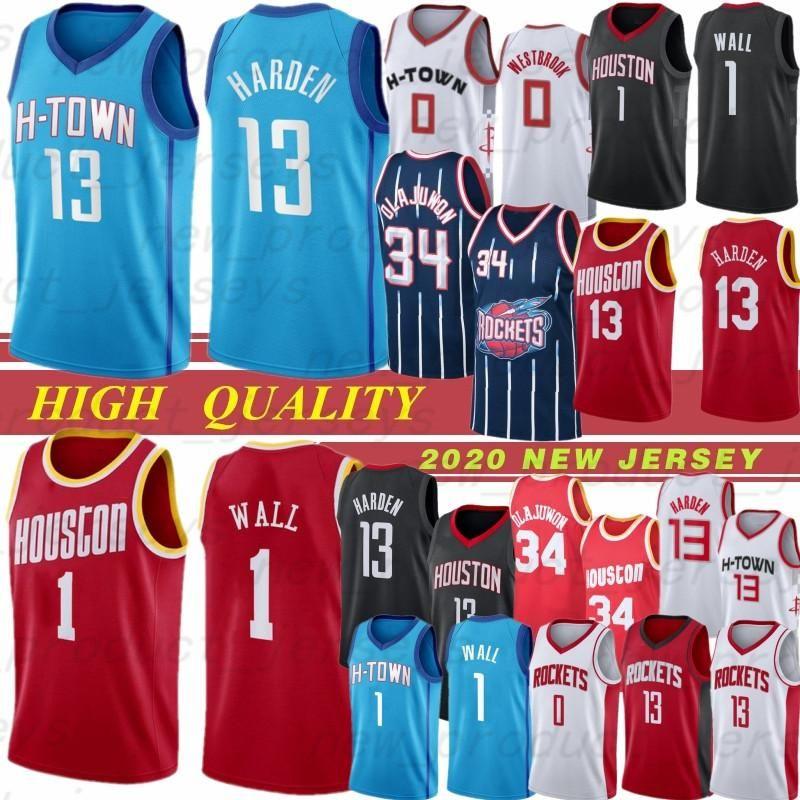 NCAA James 13 Harden Russell 0 Westbrook John 1 Wall Hakeem 34 Olajuwon NCAA Jersey 13 Harden 0 Westbrook 1 Wall Jerseys