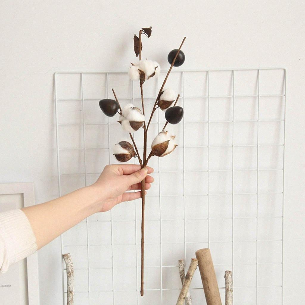 2021 Artificial Naturally Dried Cotton Stem Farmhouse Flower Filler Floral Home Decor Artificial Flower Christmas Decor Diy Mhyz From Waterwin 36 1 Dhgate Com
