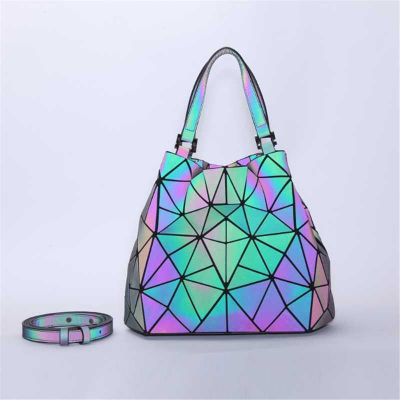 Çanta, Kadın Geometrik Aydınlık Kepçe Çanta, Elmas Katlanabilir Omuz Çantası, Çeşit Crossbody Çanta