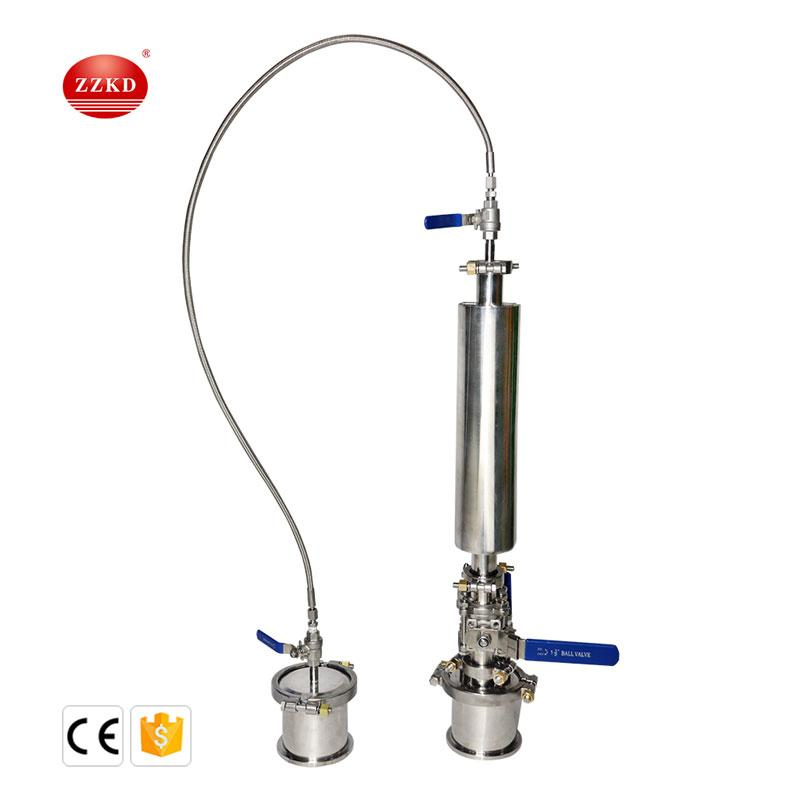 0,25 llb Extrator de loop fechado para equipamentos industriais de alta segurança, usado para extrair materiais BHO de folhas de planta