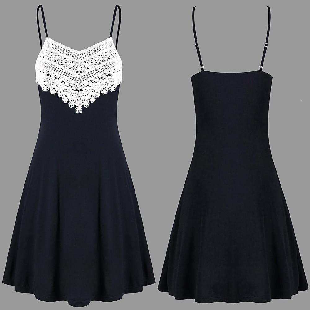@ Womens Summer Sexy Sling Moda all'uncinetto Lace Backless Mini Slip Camisole senza maniche Spaghetti