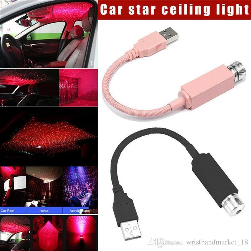 Mini Car LED tetto Stelle Night Lights Proiettore Interni Luce ambiente Atmosfera lampada della decorazione della luce USB Plug