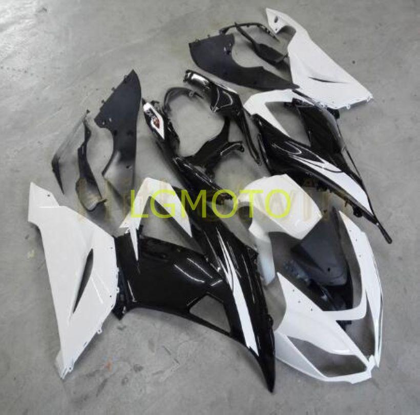 Injection Kawasaki ZX 6R pour ZX6R 2015 13-18 carénages Ninja ZX-6R 2016 blanc noir 636 Bodywork-6R 2013 Zx 2014 2017 2018 kits carrosserie ABS