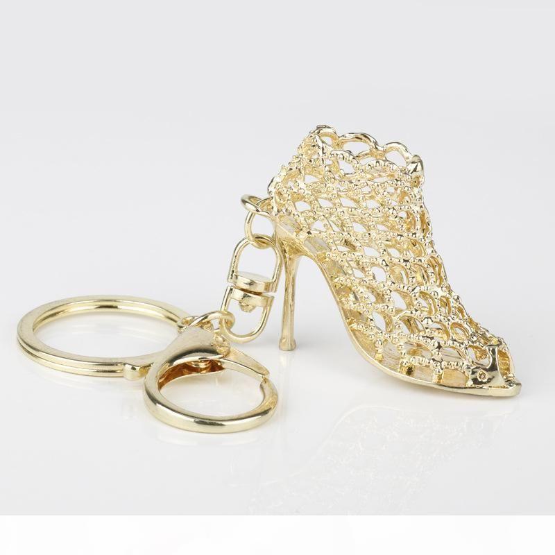 Schuh Schlüsselanhänger Bling High Heeled Key Ketten Ring Geldbörse Anhänger Taschen Autos Schuhring Halter Ketten Schlüssel Ringe für Frauen Geschenke