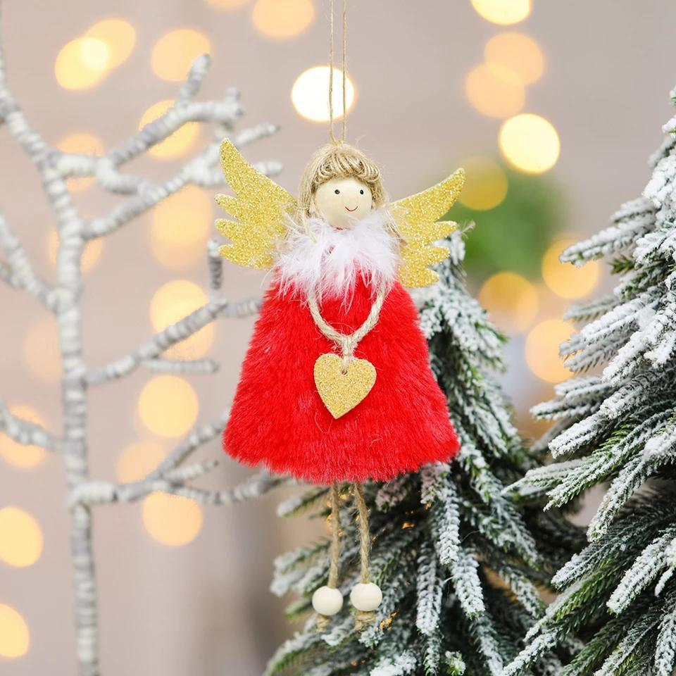 Ciondolo di natale ciondolo albero di natale Appeso Drop Ornament Doll Decoration per la casa ciondolo regalo Capodanno Navidad Forniture per feste EWD2122